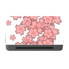 Flower Floral Pink Memory Card Reader with CF
