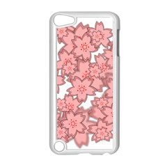 Flower Floral Pink Apple iPod Touch 5 Case (White)