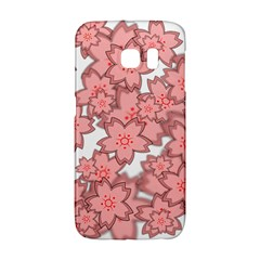 Flower Floral Pink Galaxy S6 Edge