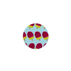 Watermelonn Red Yellow Blue Fruit Ice 1  Mini Buttons