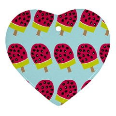 Watermelonn Red Yellow Blue Fruit Ice Ornament (Heart)