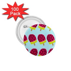 Watermelonn Red Yellow Blue Fruit Ice 1 75  Buttons (100 Pack)