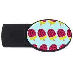 Watermelonn Red Yellow Blue Fruit Ice Usb Flash Drive Oval (2 Gb)