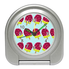Watermelonn Red Yellow Blue Fruit Ice Travel Alarm Clocks