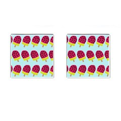 Watermelonn Red Yellow Blue Fruit Ice Cufflinks (square)