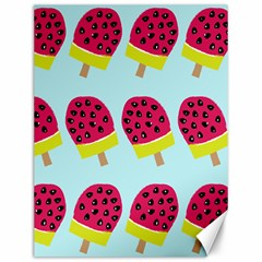 Watermelonn Red Yellow Blue Fruit Ice Canvas 12  x 16