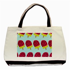 Watermelonn Red Yellow Blue Fruit Ice Basic Tote Bag (Two Sides)