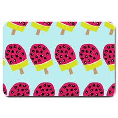 Watermelonn Red Yellow Blue Fruit Ice Large Doormat
