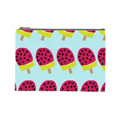 Watermelonn Red Yellow Blue Fruit Ice Cosmetic Bag (Large)