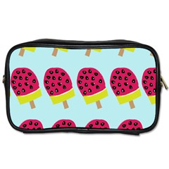Watermelonn Red Yellow Blue Fruit Ice Toiletries Bags 2 Side