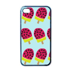 Watermelonn Red Yellow Blue Fruit Ice Apple iPhone 4 Case (Black)