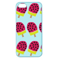 Watermelonn Red Yellow Blue Fruit Ice Apple Seamless iPhone 5 Case (Color)