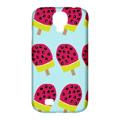 Watermelonn Red Yellow Blue Fruit Ice Samsung Galaxy S4 Classic Hardshell Case (PC+Silicone)