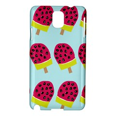 Watermelonn Red Yellow Blue Fruit Ice Samsung Galaxy Note 3 N9005 Hardshell Case