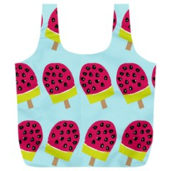 Watermelonn Red Yellow Blue Fruit Ice Full Print Recycle Bags (L)