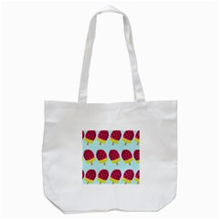 Watermelonn Red Yellow Blue Fruit Ice Tote Bag (White)