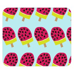 Watermelonn Red Yellow Blue Fruit Ice Double Sided Flano Blanket (Small)
