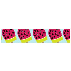 Watermelonn Red Yellow Blue Fruit Ice Flano Scarf (Small)