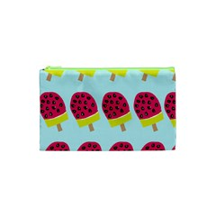 Watermelonn Red Yellow Blue Fruit Ice Cosmetic Bag (XS)