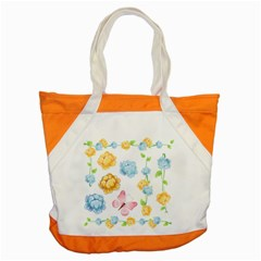 Rose Flower Floral Blue Yellow Gold Butterfly Animals Pink Accent Tote Bag