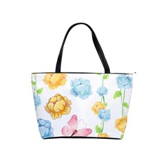 Rose Flower Floral Blue Yellow Gold Butterfly Animals Pink Shoulder Handbags
