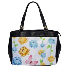 Rose Flower Floral Blue Yellow Gold Butterfly Animals Pink Office Handbags