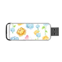Rose Flower Floral Blue Yellow Gold Butterfly Animals Pink Portable USB Flash (One Side)