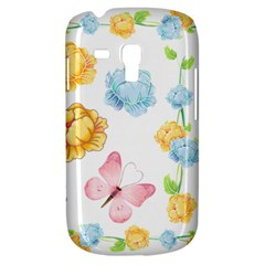 Rose Flower Floral Blue Yellow Gold Butterfly Animals Pink Galaxy S3 Mini