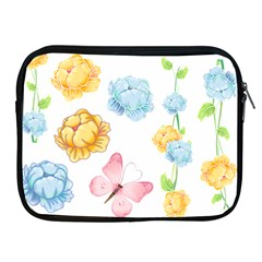 Rose Flower Floral Blue Yellow Gold Butterfly Animals Pink Apple iPad 2/3/4 Zipper Cases