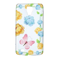 Rose Flower Floral Blue Yellow Gold Butterfly Animals Pink Galaxy S4 Active