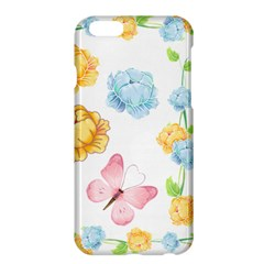 Rose Flower Floral Blue Yellow Gold Butterfly Animals Pink Apple iPhone 6 Plus/6S Plus Hardshell Case