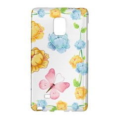 Rose Flower Floral Blue Yellow Gold Butterfly Animals Pink Galaxy Note Edge