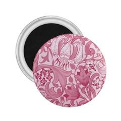 Vintage Style Floral Flower Pink 2 25  Magnets