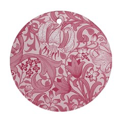 Vintage Style Floral Flower Pink Ornament (Round)