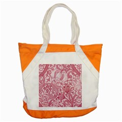 Vintage Style Floral Flower Pink Accent Tote Bag