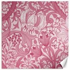 Vintage Style Floral Flower Pink Canvas 16  x 16