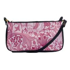 Vintage Style Floral Flower Pink Shoulder Clutch Bags