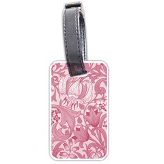 Vintage Style Floral Flower Pink Luggage Tags (one Side)
