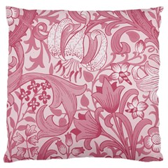 Vintage Style Floral Flower Pink Large Cushion Case (One Side)