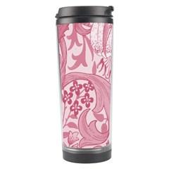 Vintage Style Floral Flower Pink Travel Tumbler