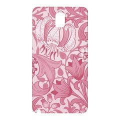 Vintage Style Floral Flower Pink Samsung Galaxy Note 3 N9005 Hardshell Back Case