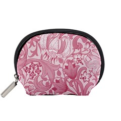 Vintage Style Floral Flower Pink Accessory Pouches (Small)