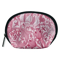 Vintage Style Floral Flower Pink Accessory Pouches (Medium)