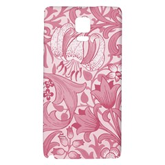 Vintage Style Floral Flower Pink Galaxy Note 4 Back Case