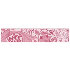 Vintage Style Floral Flower Pink Flano Scarf (Small)