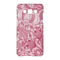 Vintage Style Floral Flower Pink Samsung Galaxy A5 Hardshell Case