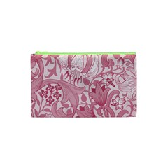 Vintage Style Floral Flower Pink Cosmetic Bag (XS)