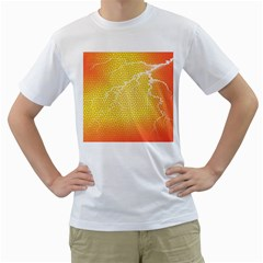 Exotic Backgrounds Men s T-Shirt (White) (Two Sided)