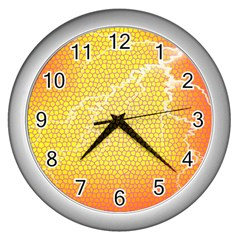 Exotic Backgrounds Wall Clocks (Silver)