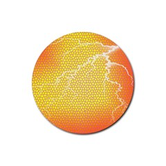 Exotic Backgrounds Rubber Round Coaster (4 pack)